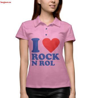 Поло I love rock-n-roll